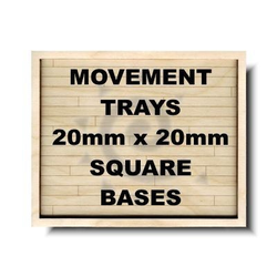 GF9 Movement Tray 20mm Formation 5x4