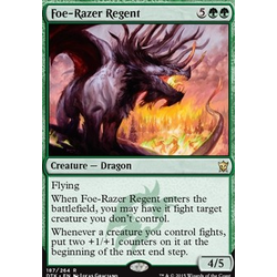 Magic löskort: Dragons of Tarkir: Foe-Razer Regent (foil)