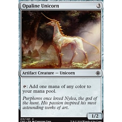 Magic löskort: Conspiracy: Take the Crown: Opaline Unicorn