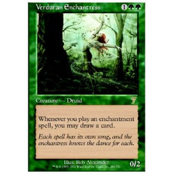 Magic löskort: 7th Edition: Verduran Enchantress