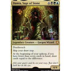 Magic löskort: Commander Anthology 2018: Damia, Sage of Stone (Foil)