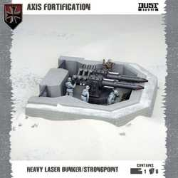 Dust Tactics: Axis Fortification - Heavy Laser Bunker / Strongpoint