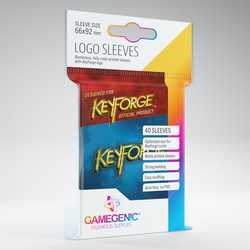 GameGenic Keyforge Logo Sleeves Blue (40)