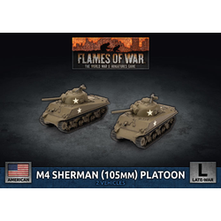 American M4 Sherman (105mm) Assault Gun Platoon (plastic)