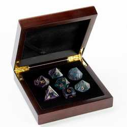 Stone Dice: Purple Fluorite 7-die Set