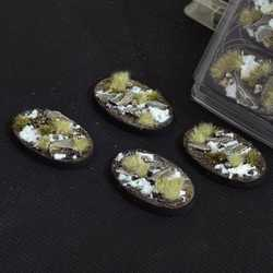 Battle Ready Bases - Winter 60mm Oval (4)