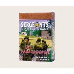 Sergeants Miniature Game: US Paratrooper M2 Carbine Leader