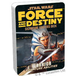 Star Wars: Force and Destiny: Specialization Deck Warrior Signature Abilities