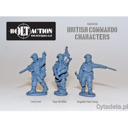 British Commando characters (Lord Lovat, Piper Millin & Brigadier Young)