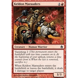 Magic Löskort: Premium Deck - Fire and Lightning: Keldon Marauders (Foil)