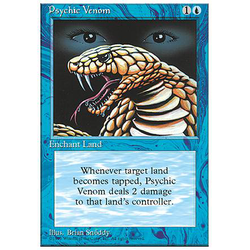 Magic löskort: 4th Edition: Psychic Venom