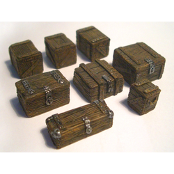 Wooden Freight Boxes, 8 pcs.