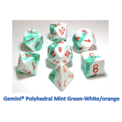 Lab Dice Gemini Mint Green/orange (7-Die set)