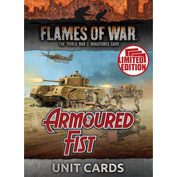 Flames of War: Mid War Armoured Fist Unit Cards