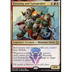 Magic löskort: Dominaria: Firesong and Sunspeaker (Buy-a-box Promo Foil)
