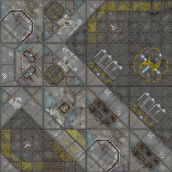 War Game Mat Modular Terminus Segments - Industrial 4x4 ~ 122x122cm (Mousepad)