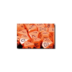 Opaque: Orange/black (36-dice set)