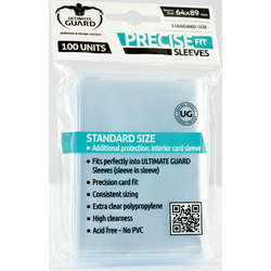 "Card Sleeves Standard ""Precise Fit"" Clear 64x89mm (100) (Ultimate Guard)"