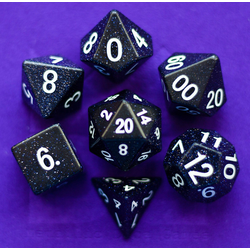 Metallic Dice: Blue Sandstone (7-die set)