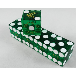 Cancelled Casino Dice Green (Set of 5), 19mm