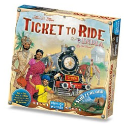 Ticket to Ride Map Collection 2 - India & Switzerland