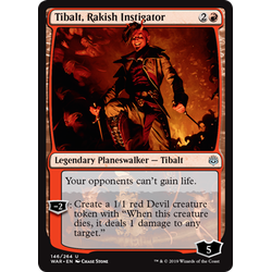 Magic löskort: War of the Spark: Tibalt, Rakish Instigator