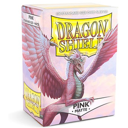 Dragon Shield Sleeves - Standard Matte Pink (100 ct. in box)