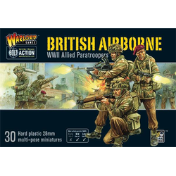 British Airborne WWII Allied Paratroopers (plastic)
