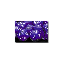 Opaque: Purple/white (36-dice set)