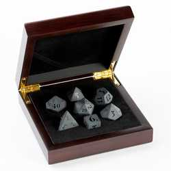 Stone Dice: Black Obsidian 7-die Set