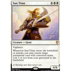Magic löskort: Commander Anthology 2018: Sun Titan