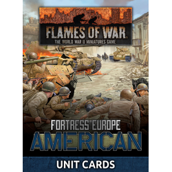Fortress Europe: American Unit Cards (Late War)