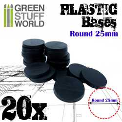 Plastic Bases Round 25mm (20)