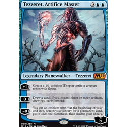Magic löskort: Core Set 2019: Tezzeret, Artifice Master