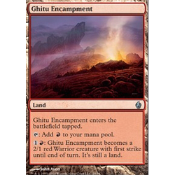 Magic Löskort: Premium Deck - Premium Deck - Fire and Lightning: Ghitu Encampment (Foil)