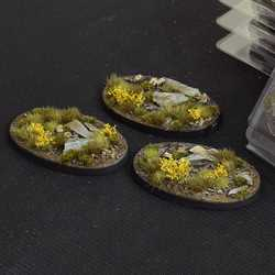 Battle Ready Bases - Highland 75mm Oval (3)
