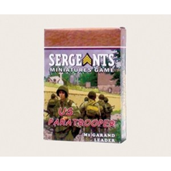 Sergeants Miniature Game: US Paratrooper M1 Garand Leader