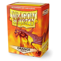 Dragon Shield Sleeves - Standard Matte Orange (100 ct. in box)
