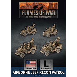 American Airborne Jeep Recon Section (plastic)