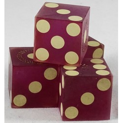 Cancelled Casino Dice Sanded Purple, 19mm