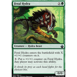 Magic löskort: Battlebond: Feral Hydra