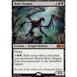 Magic löskort: Core Set 2019: Bone Dragon