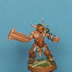 Fantasy Football Chaos - Warrior with Chainsaw (Gaspez)