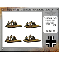 German 8cm Granatwerfer 34 Mortar Teams