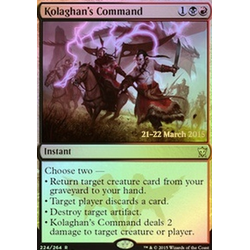 Magic löskort: Dragons of Tarkir: Kolaghan's Command (prerelease)