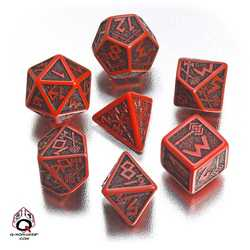 Dwarven Dice Set (Red and Black)