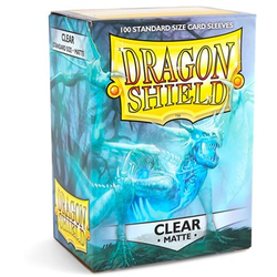 Dragon Shield Sleeves - Standard Matte Clear (100 ct. in box)