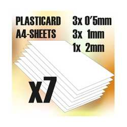 ABS Plasticard A4 - Variety 7 Sheets Pack