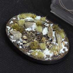Battle Ready Bases - Winter 105mm Oval (1)
