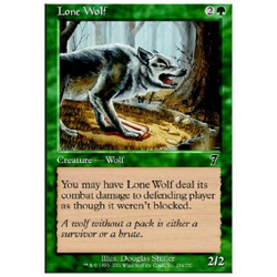 Magic löskort: 7th Edition: Lone Wolf (Foil)